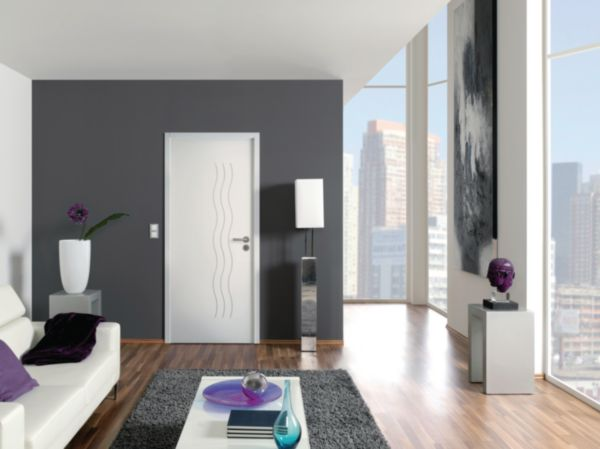 bloc porte alv olaire class moderna cascade pr peint h90 pr peint perf recouvrement pddt. Black Bedroom Furniture Sets. Home Design Ideas