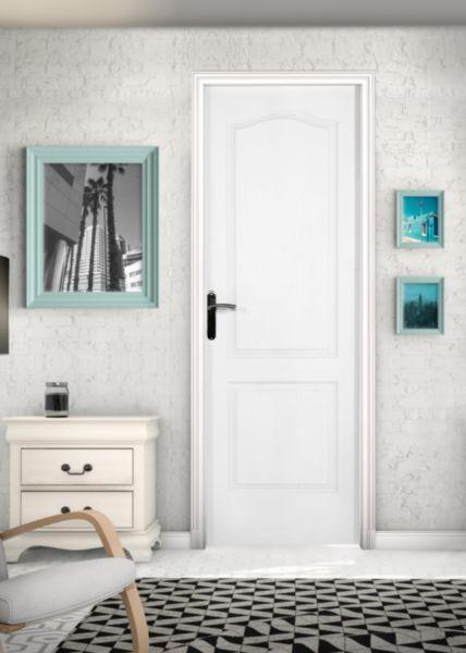 bloc porte postform alv olaire pr peint classic cg huisserie h72 poussant droit 204x73 cm. Black Bedroom Furniture Sets. Home Design Ideas