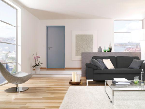 bloc porte me pleine huisserie perf 72 mm plane blanc. Black Bedroom Furniture Sets. Home Design Ideas
