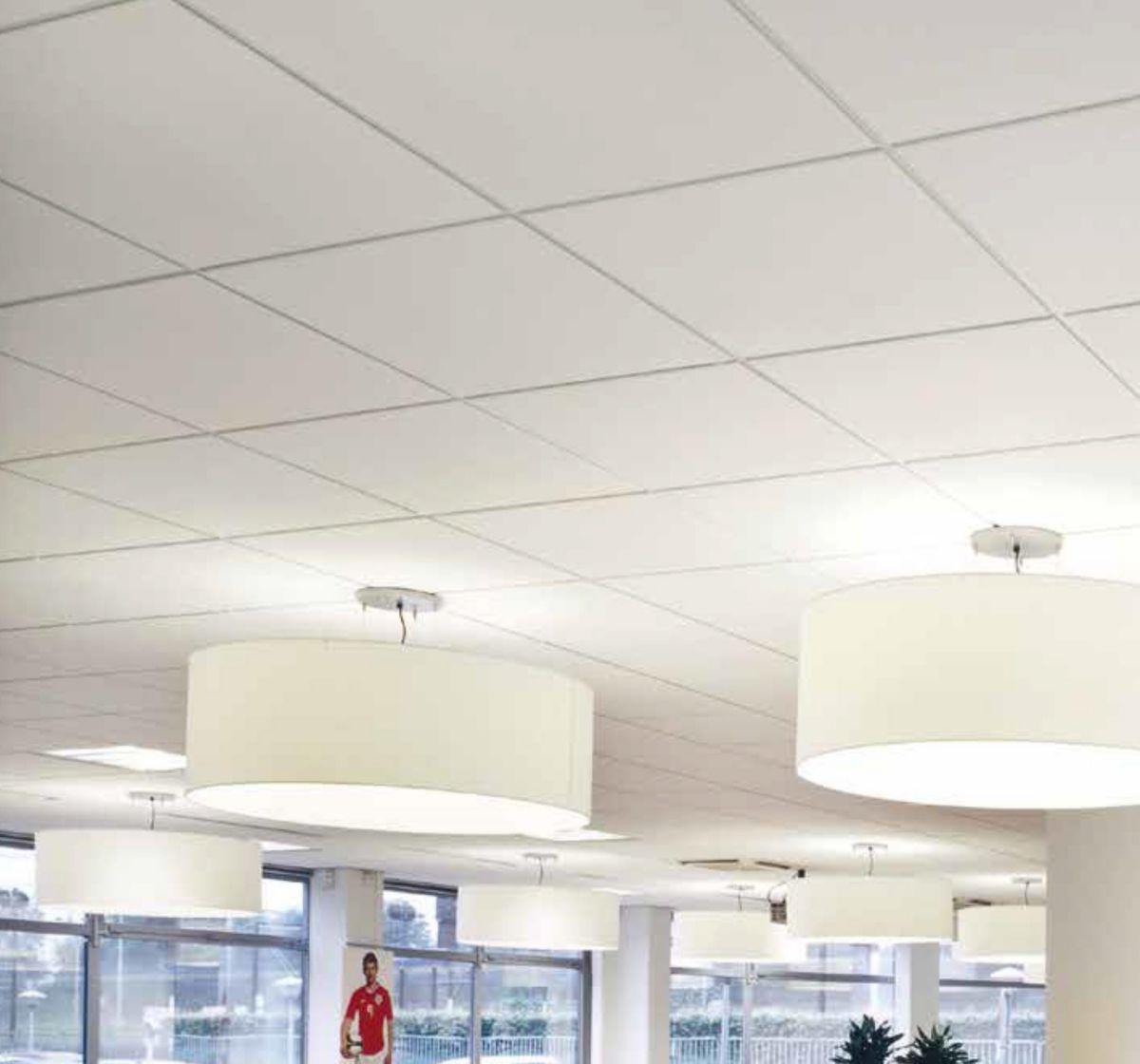 Faux Plafond Suspendu En Dalles Isolantes dalle de plafond sahara board 2516m - 60x60 cm - ép. 15 mm