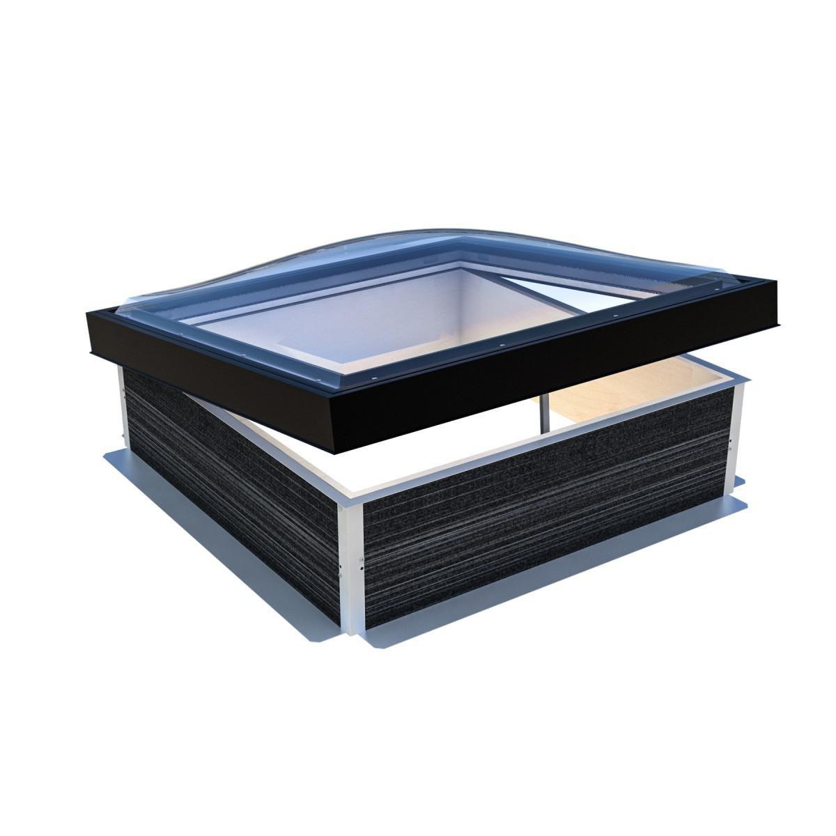 Skydome Fenêtre De Toit Plat Equilux Wood 100 X 100 Fixe Hauteur