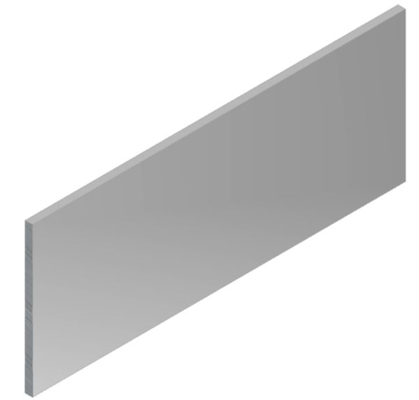 Couvre-joint Meplat à coller 40x2mm blanc 3,00 m