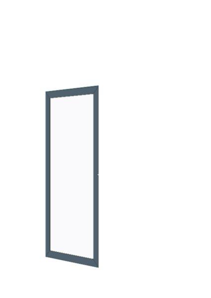 Porte cadre alu ouvrante semi fixe pleine toute hauteur - Porte toute hauteur ...