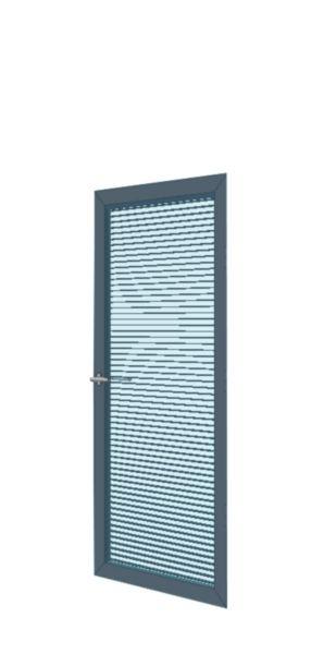porte cadre alu ouvrante double vitrage toute hauteur avec store graphite 930 mm clipper. Black Bedroom Furniture Sets. Home Design Ideas