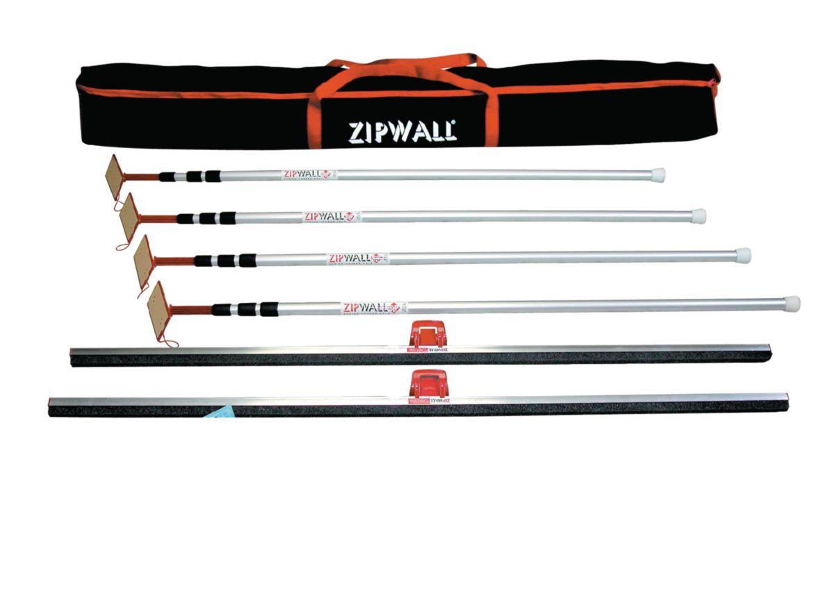Zipwall Perches Telescopiques Alu Zipwall 3,60 m (lot de 4) - ZIP-4PL
