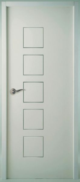 bloc porte isolant climat b huisserie perf 72 mm cubisme moderna blanc jeld wen