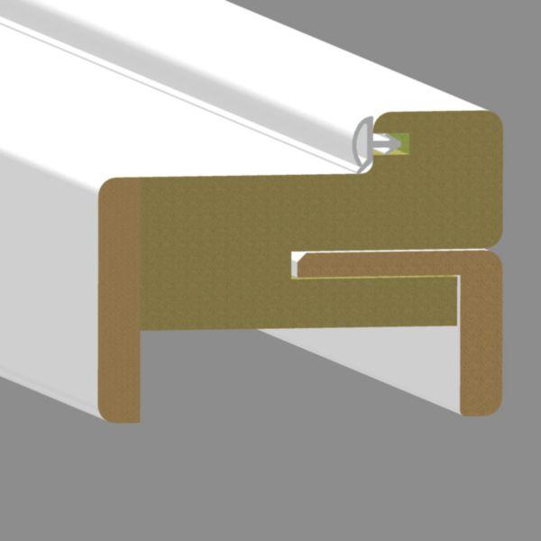 bloc porte huisserie pose fin de chantier griff 39 inox laqu blanc jeld wen 204x73 cm poussant. Black Bedroom Furniture Sets. Home Design Ideas
