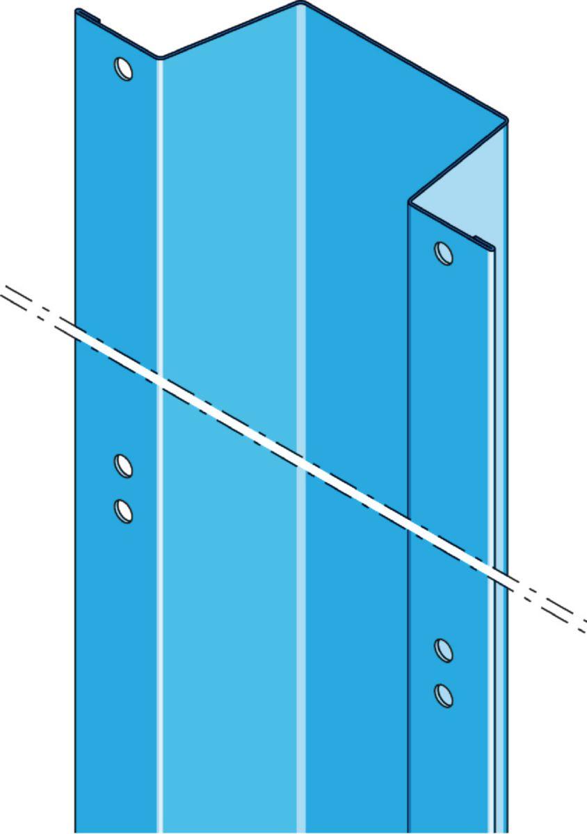 Profil Lisse Megastil 50 30 L 4800 Mm L 100 Mm H 30 Mm  # Cheville Pour Brique Platriere
